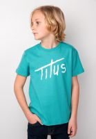 titus-t-shirts-brushed-letters-kids-mint-green-vorderansicht-0397392