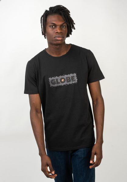Globe T-Shirts Melt washedblack vorderansicht 0320624