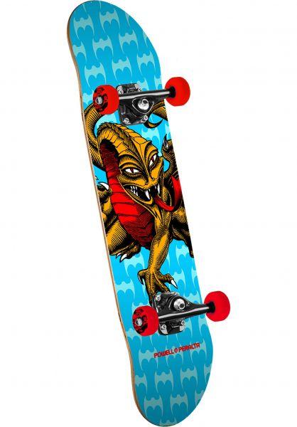 Powell-Peralta Skateboard komplett Cab Dragon Mini one off-blue Vorderansicht 0161168