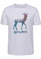 Rules T-Shirts Deer lightheathergrey Vorderansicht