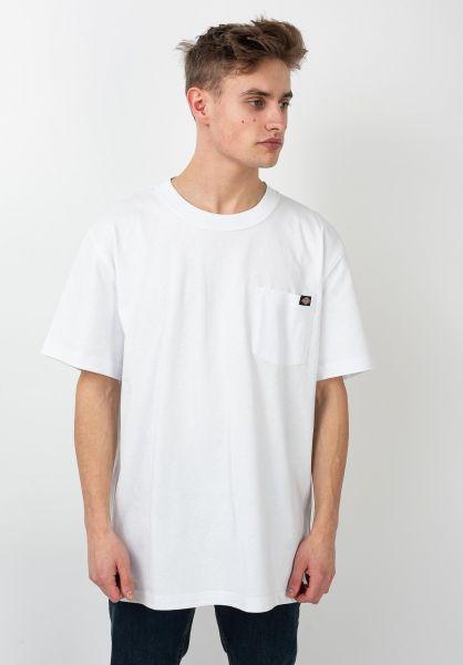 Dickies T-Shirts Porterdale white vorderansicht 0321323