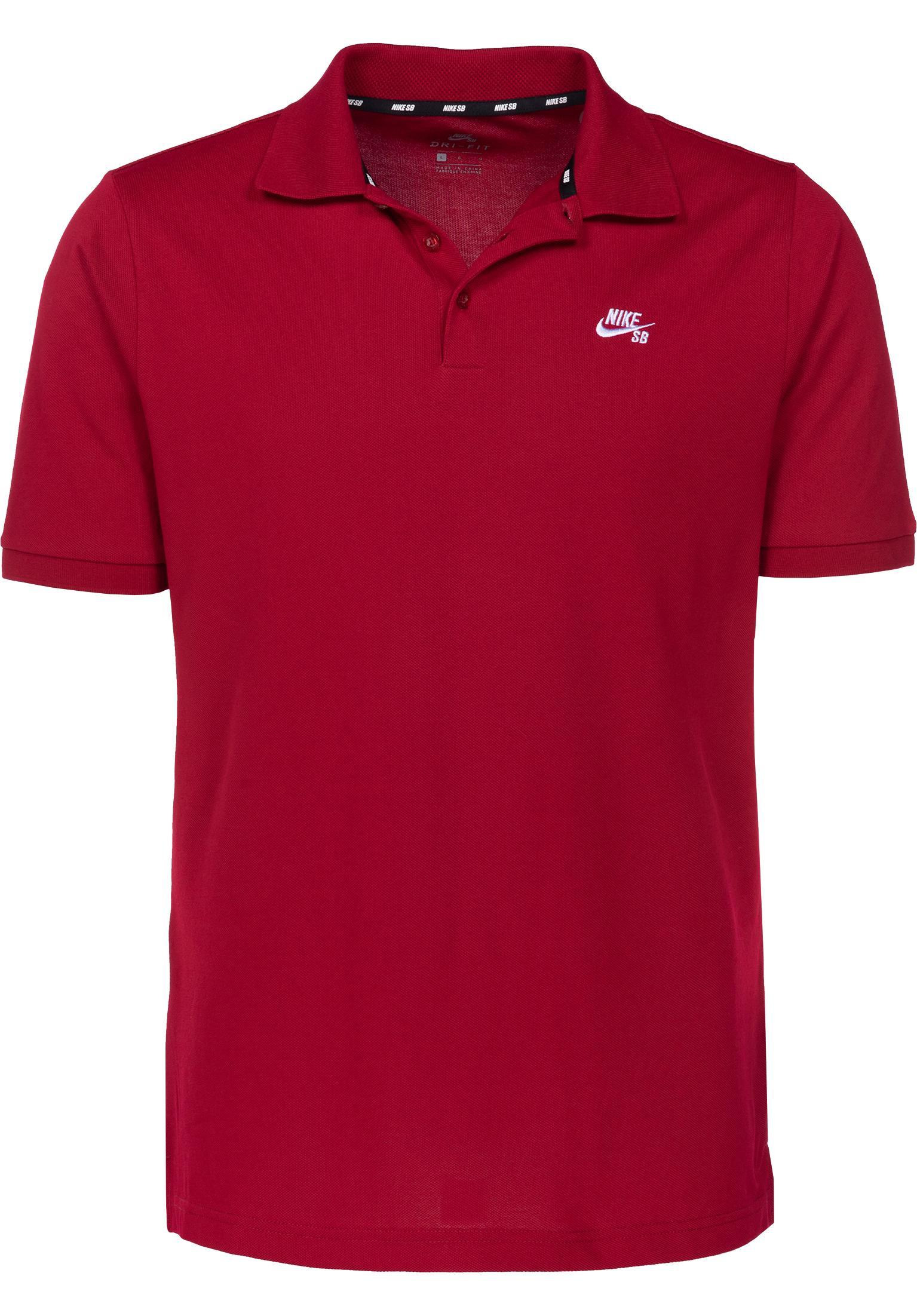 DFT Pique Nike SB Polo Shirts in redcrush-white for Men  8dfa5c5cf1d89