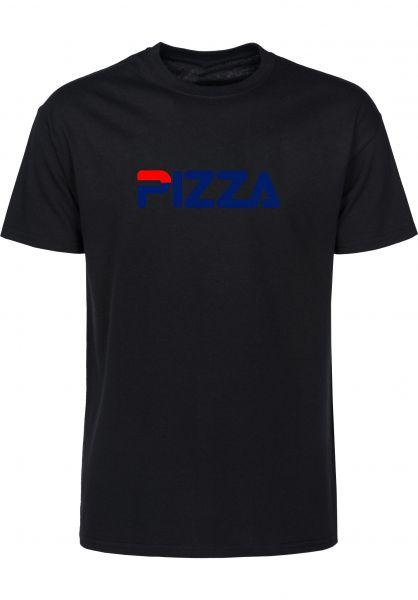 Pizza Skateboards T-Shirts Fizza black vorderansicht 0323450