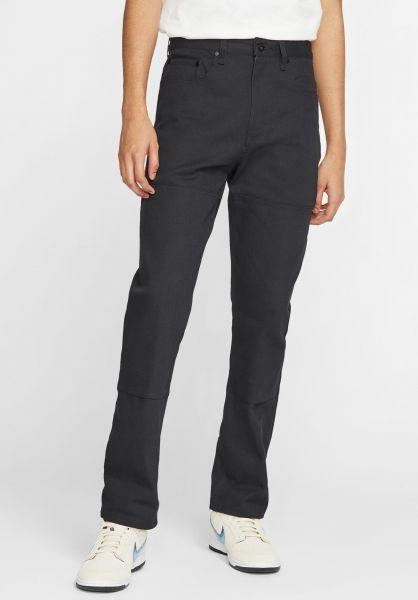 Nike SB Chinos und Stoffhosen Pant Orange Label Leo Baker black vorderansicht 0204157
