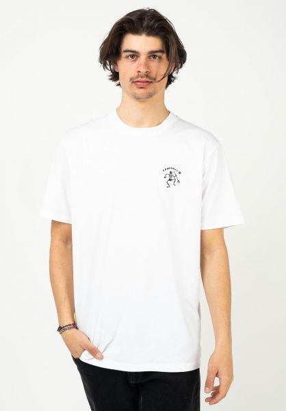 Carhartt WIP T-Shirts Misfortune white vorderansicht 0323510