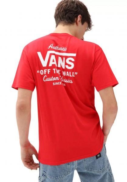 Vans T-Shirts Holder Street II highriskred-white vorderansicht 0399886