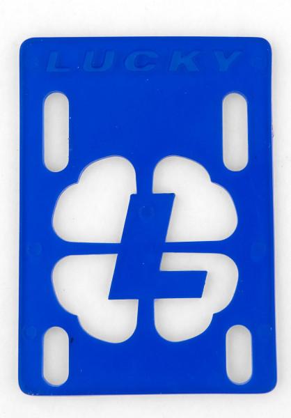 """Lucky Riserpads 1/8""""-Riser blue Vorderansicht"""