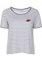 Mazine T-Shirts Ysabel offwhite-navystriped Vorderansicht