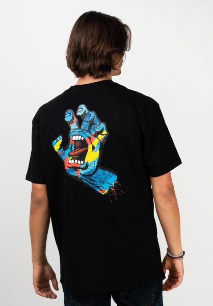 Santa-Cruz T-Shirts Primary Hand black vorderansicht 0321515