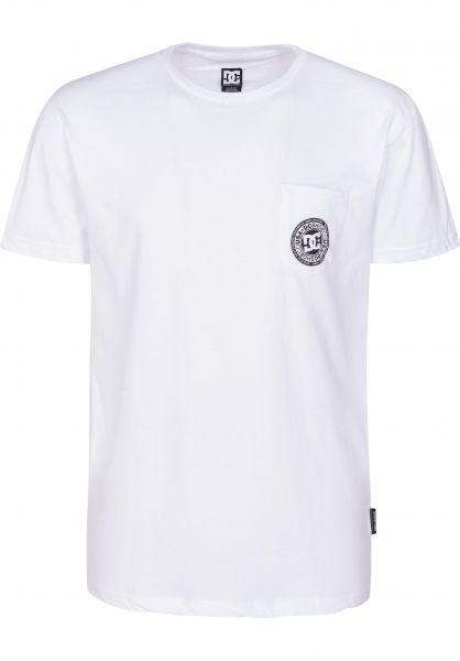 DC Shoes T-Shirts Basic Pocket 3 snowwhite vorderansicht 0399660