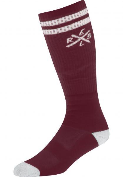 Rebel Rockers Socken Tube X burgundy vorderansicht 0630025