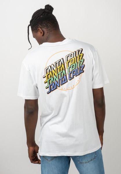 Santa-Cruz T-Shirts Multi Strip white vorderansicht 0320437