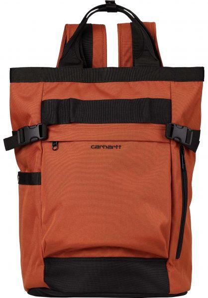 Carhartt WIP Rucksäcke Payton Carrier cinnamon-black-black vorderansicht 0880926