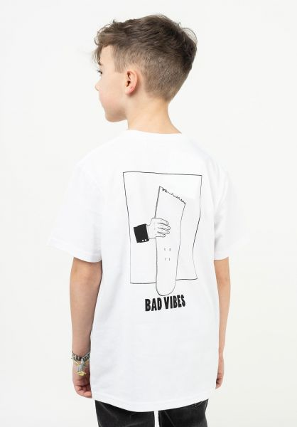 TITUS T-Shirts Bad Vibes Kids white vorderansicht 0322725