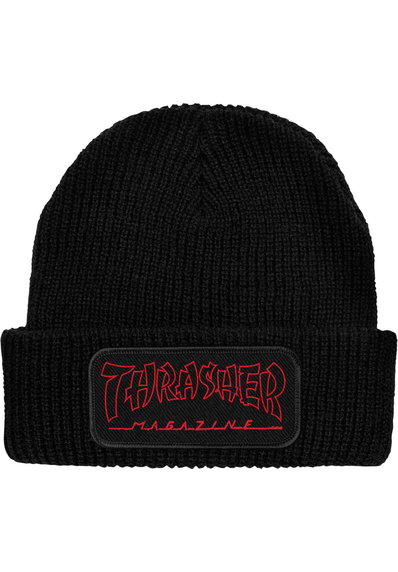 c6fa740c0db China Banks Patch Thrasher Beanies in black for Men