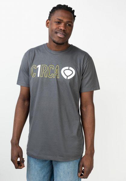 C1RCA T-Shirts Din Icon Track smoke vorderansicht 0321653