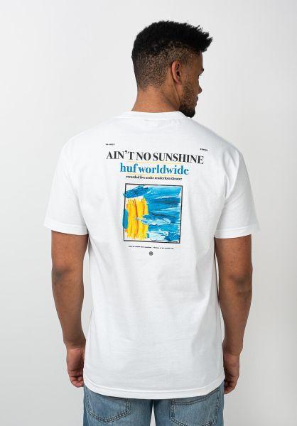 HUF T-Shirts Aint No Sunshine white vorderansicht 0321695