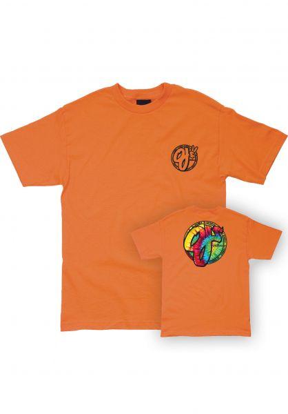 OJ Wheels T-Shirts Trippy Juice orange vorderansicht 0322745