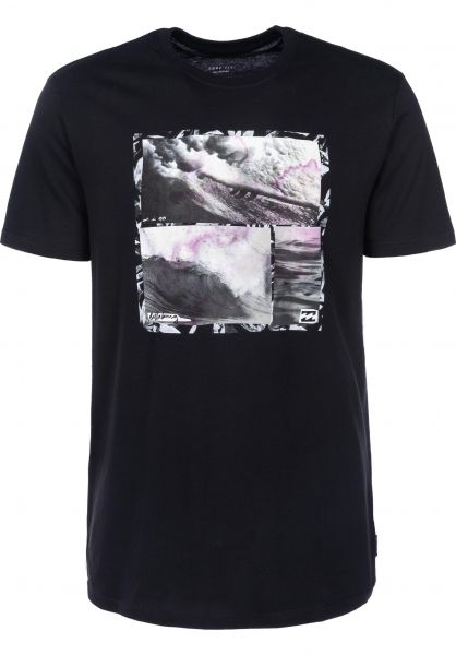 Billabong T-Shirts Morning Brisk black Vorderansicht