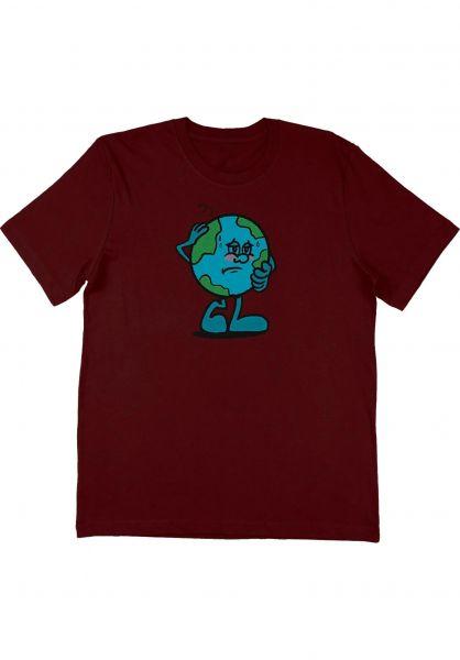 Pizza Skateboards T-Shirts Climate burgundy vorderansicht 0323447