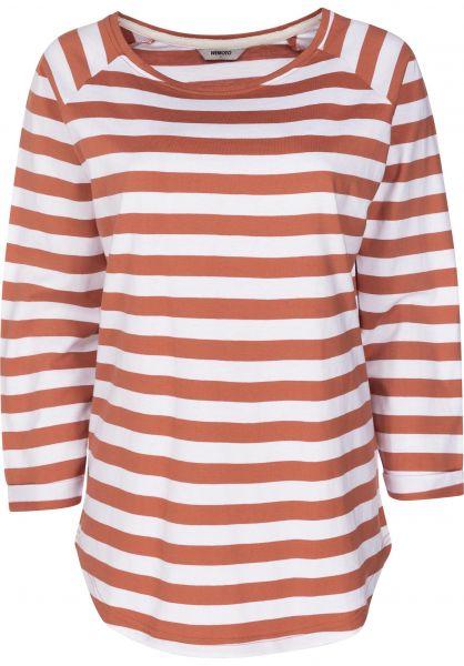 Wemoto Longsleeves Shane Striped emberglow-white vorderansicht 0383121