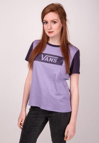 Vans T-Shirts V Tangle Range Ringer daybreak-mysterioso vorderansicht 0399505