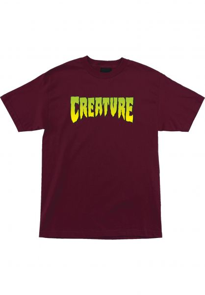 Creature T-Shirts Logo burgundy vorderansicht 0376561