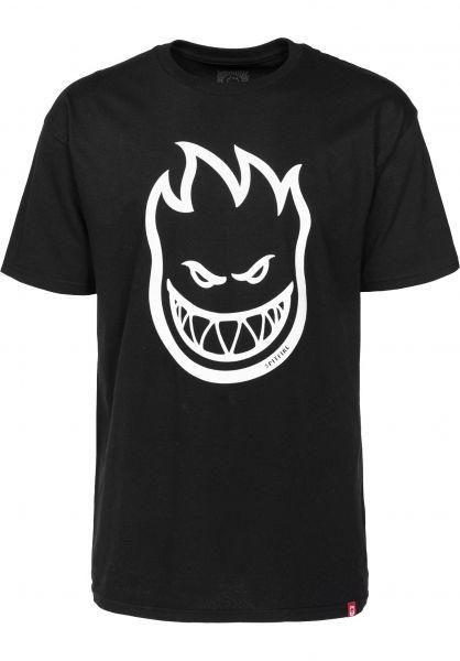 Spitfire T-Shirts Bighead black Vorderansicht