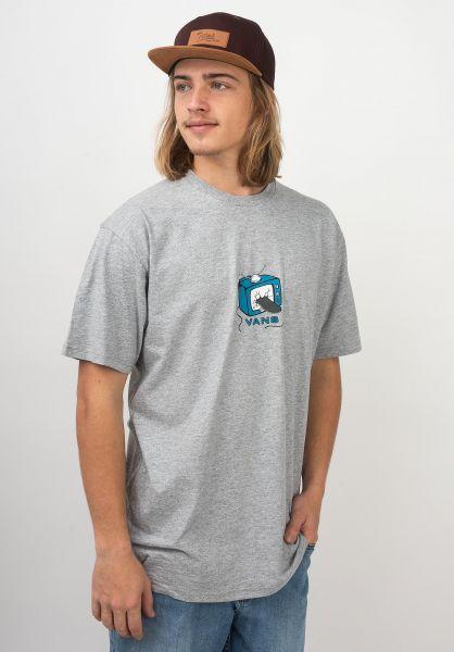 Vans T-Shirts Skate TV athleticheather vorderansicht 0321102