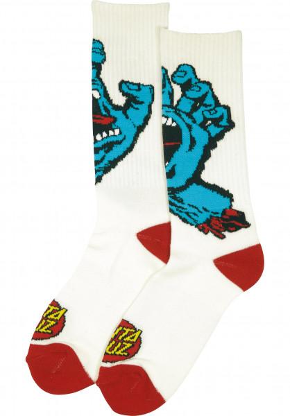 Santa-Cruz Socken Screaming Hand white Vorderansicht