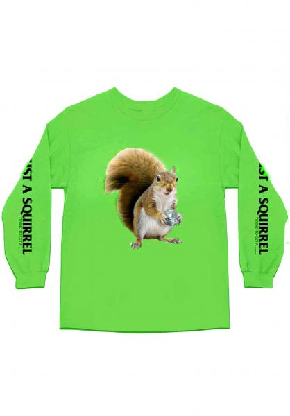 Skate-Mental Longsleeves Squirrel neongreen vorderansicht 0383404