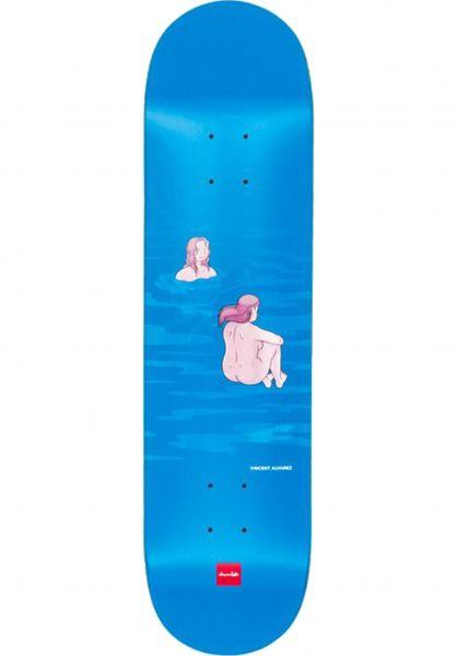 Chocolate Skateboard Decks Alvarez Sunbathers blue Vorderansicht