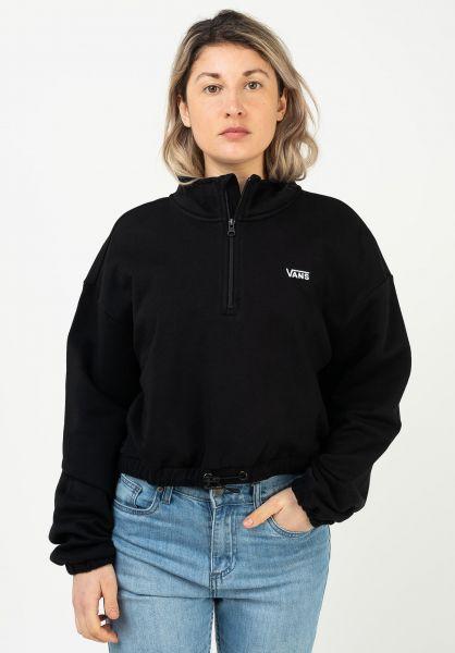Vans Sweatshirts und Pullover Left Chest Half Zip black vorderansicht 0423088