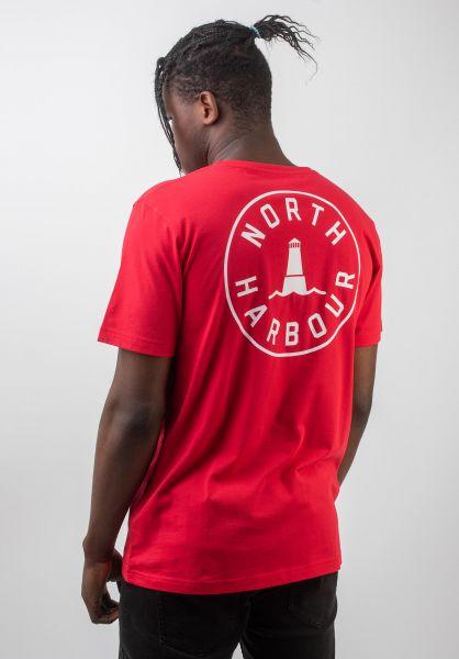 Makia T-Shirts Astern red vorderansicht 0383352