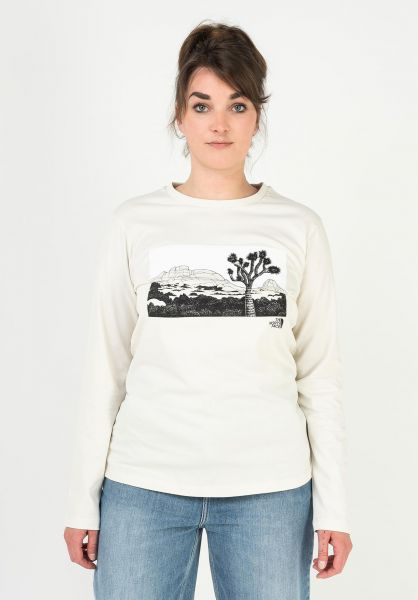 The North Face Longsleeves Graphic vintagewhite vorderansicht 0383925