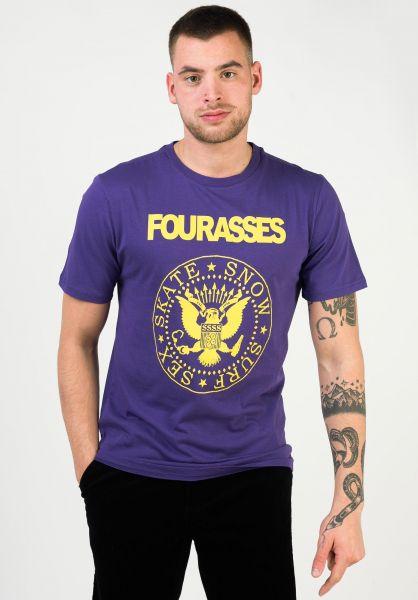 Fourasses T-Shirts Senomar purple-yellow vorderansicht 0363363