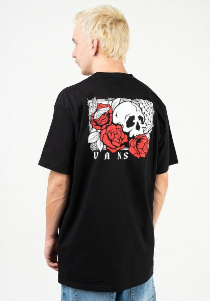 Vans T-Shirts Rose Bed black vorderansicht 0323463