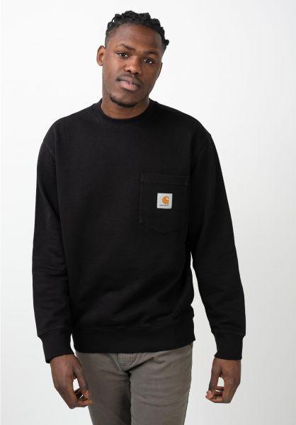 Carhartt WIP Sweatshirts und Pullover Pocket black vorderansicht 0422851