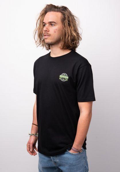 TITUS T-Shirts Joschi Backprint black vorderansicht 0398377