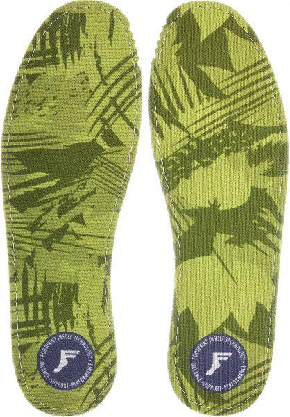 Footprint Insoles Einlegesohlen Flat Camo Low 3mm green vorderansicht 0249074