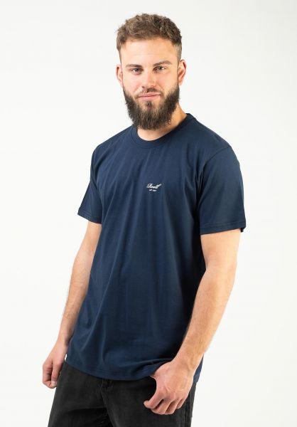 Reell T-Shirts Regular Logo T-Shirt navy vorderansicht 0322557