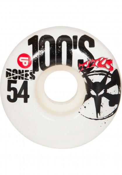 Bones Wheels Rollen 100's TITUS Collabo Lil Rat white Vorderansicht
