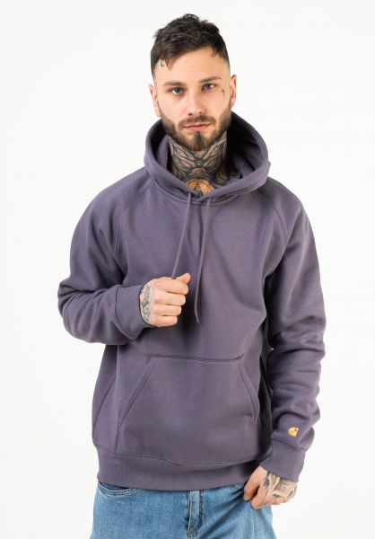 Carhartt WIP Hoodies Hooded Chase provence-gold vorderansicht 0441959
