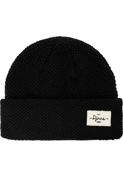 Djinns Mützen Medi Short Beanie Bubble Knit black vorderansicht 0572596