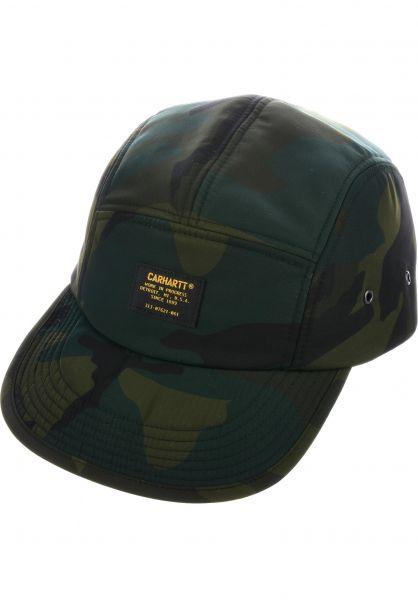 39aa86f873fc5 Carhartt WIP Caps Military Logo camocombatgreen Vorderansicht