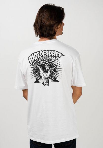 Independent T-Shirts Ripped white vorderansicht 0321510