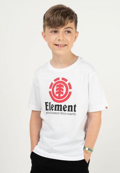 Element T-Shirts Vertical Kids opticwhite vorderansicht 0371465