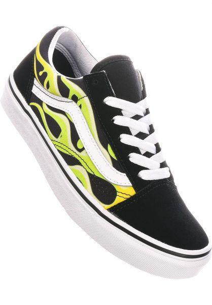 Vans Alle Schuhe Old Skool Kids black-white-slime vorderansicht 0216057