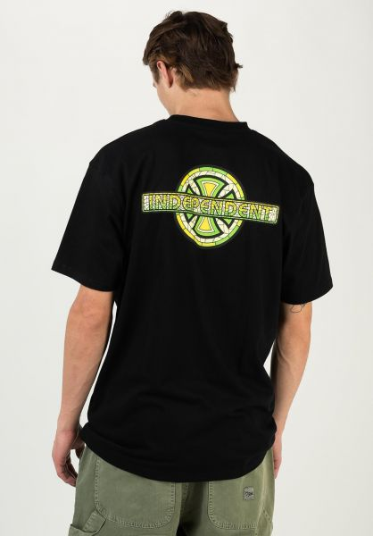 Independent T-Shirts Stained Glass black vorderansicht 0322547