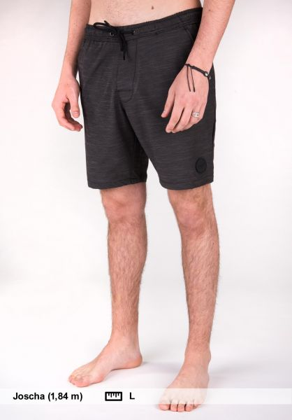 Reell Beachwear Easy Swim Short black Vorderansicht